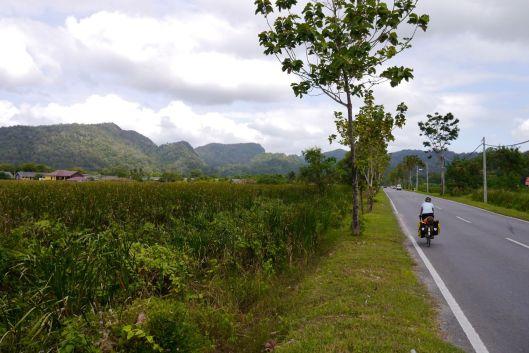 Road 100 from Kuala Perlis to Kangar.