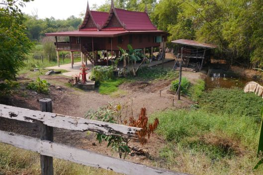 Typical Thai House in Ayutthaya province.