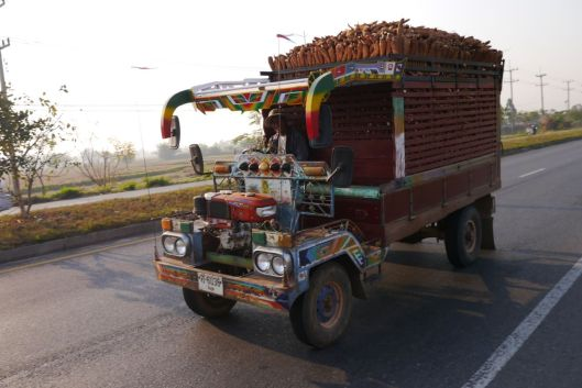 Fully loaded 2-stroke truck.