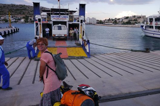 Ferry from Cesme to Greek island of Chios.