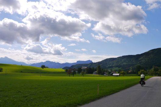 Route 24 towards Mondsee, Austria.