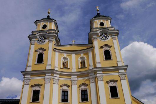 """Klosterkirche Mondsee, """"Sound of Music"""" church, Austria."""