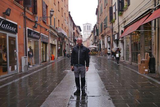 Wet streets of Ferrara and Warren.