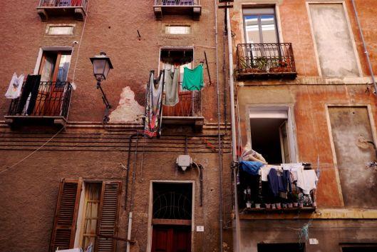 More washing. Cagliari, Sardinia, Italy.