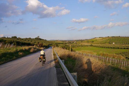 Winding around the valleys. Sicily