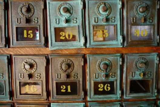 Old mail boxes.