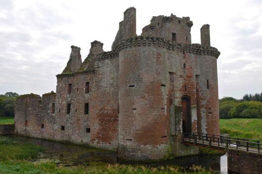 Caerlaverock Castle, Dumfrieshire, Scotland.